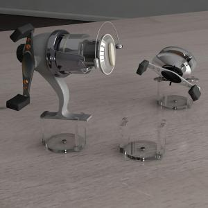 PLEXI COUNTER REEL HOLDER 02 CLEAR